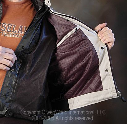 Rev'it Airforce Mesh Motorcycle Jacket - waterproof liner and jacket lining