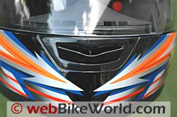 CMS GP-4 motorcycle helmet - chin bar venting