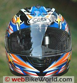 CMS GP-4 motorcycle helmet - front view