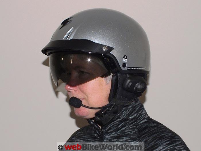 Sena SPH10H-FM Installed on Scorpion EXO-C110 Helmet
