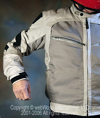 Rev'it Airforce Mesh Motorcycle Jacket - shoulder and pocket detail
