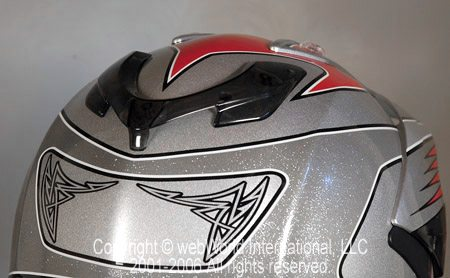 Airoh S4 Helmet - Rear View of Rear Exhaust Vents