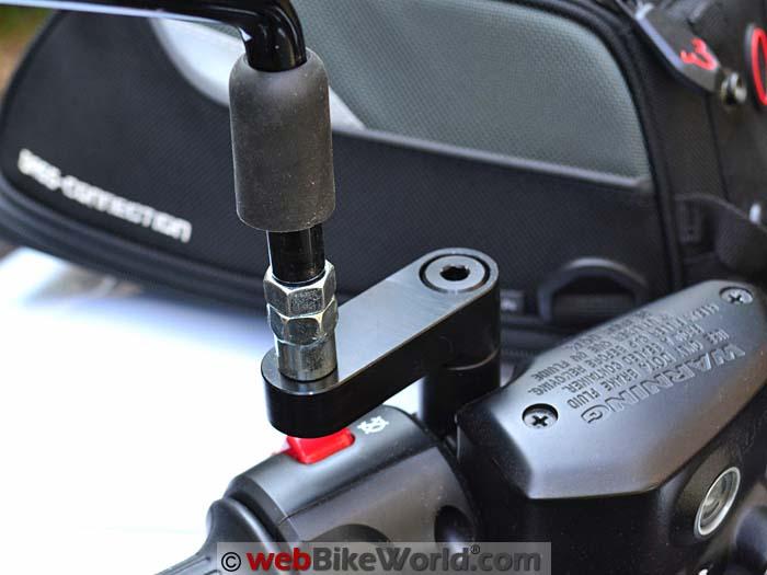 Motowerk Mirror Extenders Installed Left Side