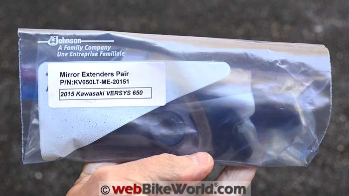 Motowerk Mirror Extenders Kit