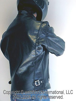 Schott Leather Motorcycle Jacket - Café Racer Shoulder View