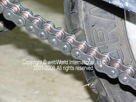 Chain after using the Kettenmax Chain Cleaner