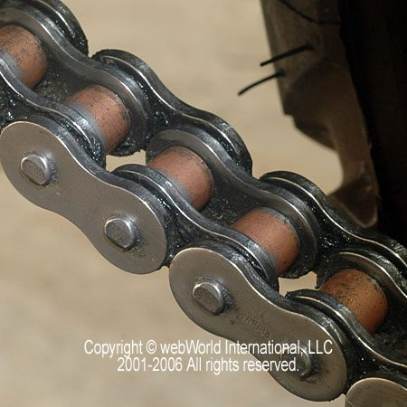 Motorcycle Chain Closeup After Cleaning