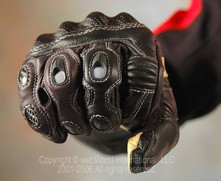 Racer Gloves - Knuckle Closeup