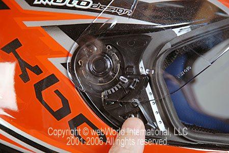 KBC VR-3 Visor Removal