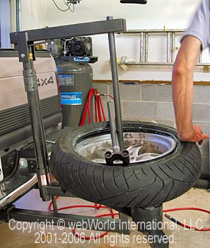 Motorcycle Tire Changer Webbikeworld