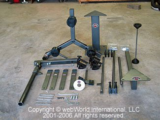 No-Mar Motorcycle Tire Changer - Parts Prior to Assembly