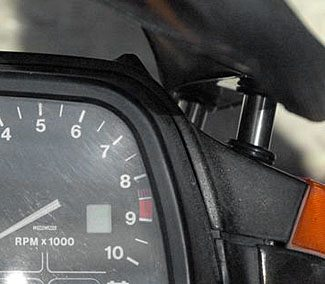 Close-up of windscreen adjustment