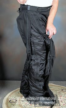 Full-Length Leg Zipper on the Fieldsheer Four Seasons Mesh Pants