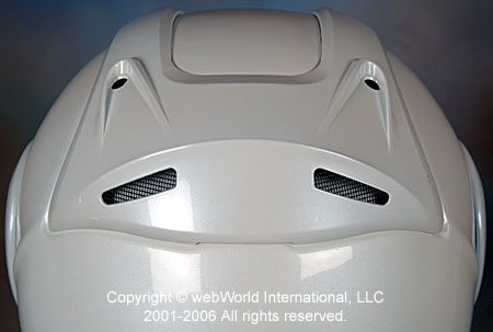 Z1R Eclipse Motorcycle Helmet - Rear Vent