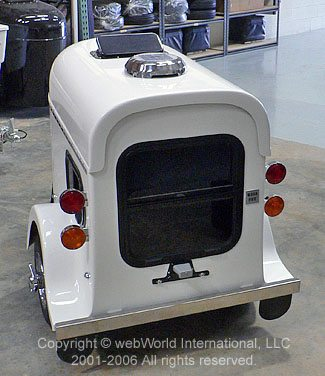 Motorcycle Pet Carrier - Rear View