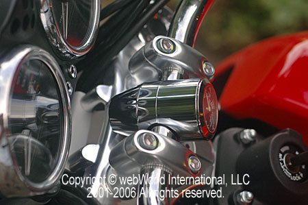 Marlin Corporation Bullet Billet Motorcycle Thermometer - Side View