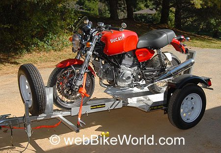 Final Assembly and Motorcycle on Trailer