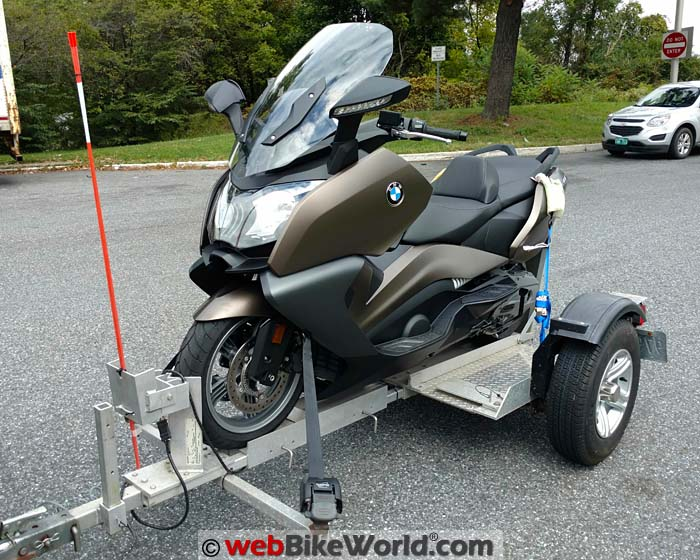BMW Scooter on Trailer