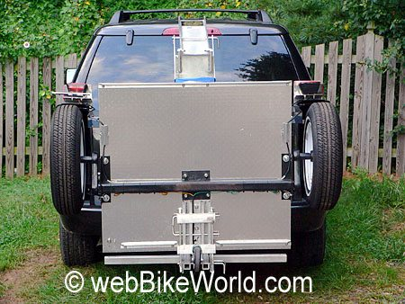 Fold-up Trailer on Hitch - Rear View