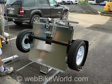 Bottom View - Rocket Folding Motorcycle Trailer