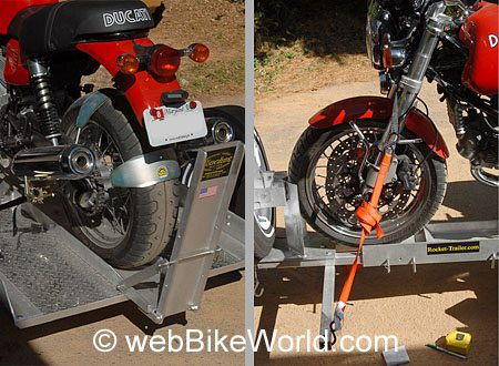 Front and Rear Motorcycle Tie Downs