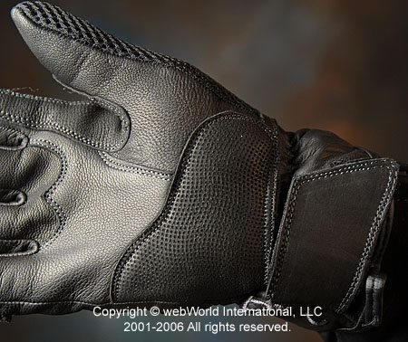 Closeup of Held Fresh Gloves - Palm