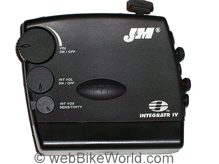 J&M Integratr IV Motorcycle Intercom - Side View