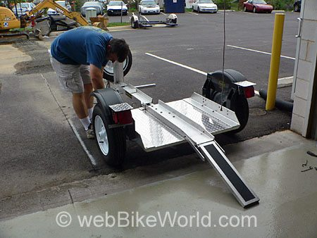 Rear View - Rocket Folding Motorcycle Trailer