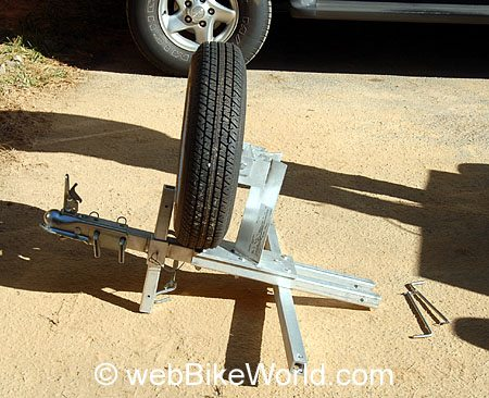 Spare Tire Assembly - Rocket Folding Motorcycle Trailer