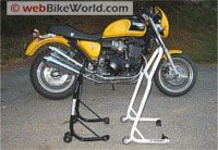 Motorcycle rear stand comparison