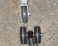 Motorcycle rear wheel stand wheels