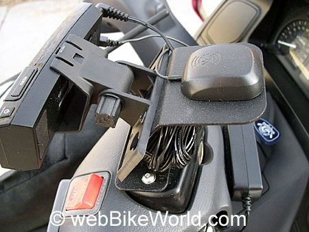 Satellite Radio Motorcycle Mount - Top View