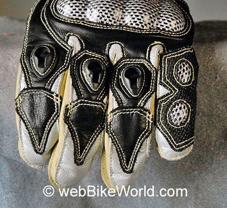 Hurt Schizo 700 Gloves - Back of Knuckles Closeup