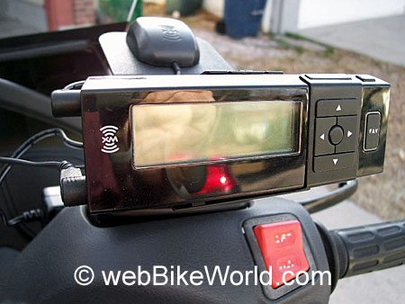 Satellite Radio Motorcycle Mount - Front View