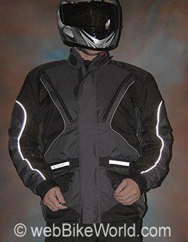 Roadgear Tierra del Fuego Jacket - Front View, Reflective Piping