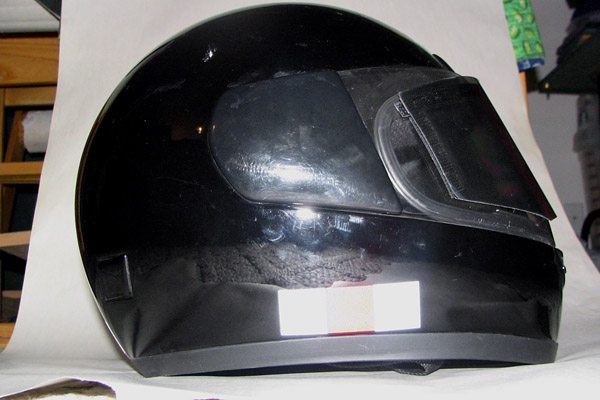 Reflective tape on helmet