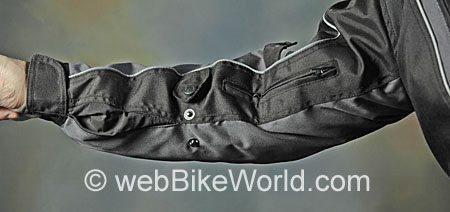 Roadgear Tierra del Fuego Jacket - Arm Adjustment Snaps