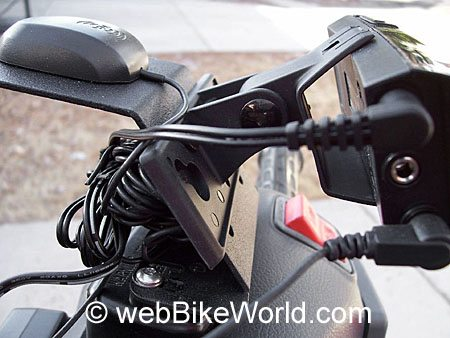 Satellite Radio Motorcycle Mount - Side View