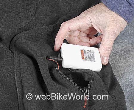 Battery on the Venture - Brookstone Heated Vest