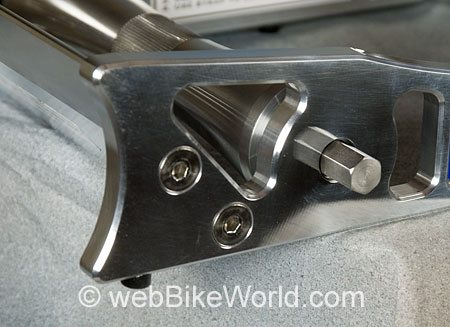 Detail of Corner - Easy Wheeler Motorcycle Wheel Roller
