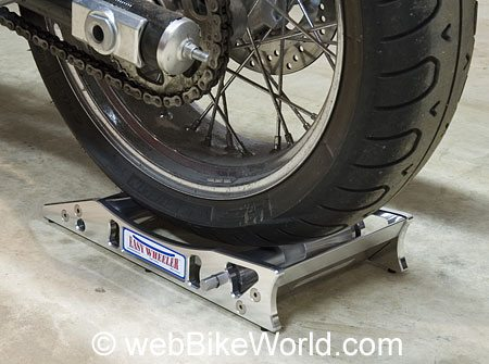 Motorcycle Wheel Roller - Motorcycle Rear Tire on Easy Wheeler