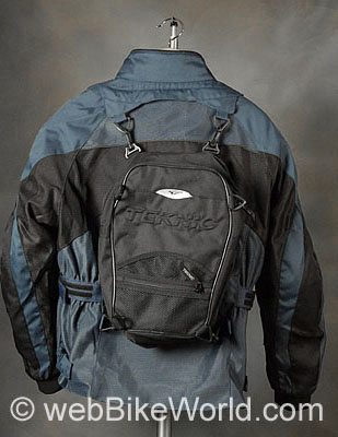 Teknic Sprint Jacket - Rear View With Backpack