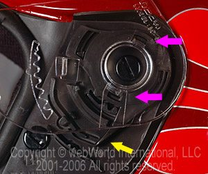 Visor Locking Mechanism - Open Position