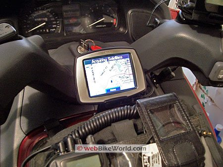 Garmin c330 on Motorcycle