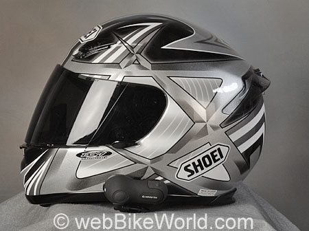 Interphone Bluetooth Intercom - Mounted on Helmet