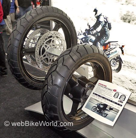 Bridgestone BW-501 Front and BW-502 Rear Battle Wing Motorcycle Tires