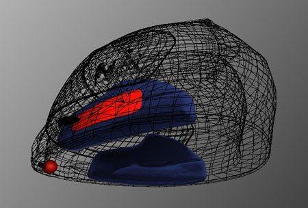 Scorpion EXO-1000 HelmetPump Wire Frame View