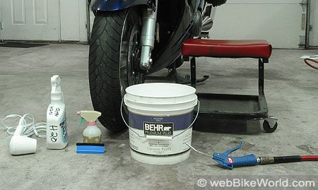 Installing the Tankslapper paint protection kit