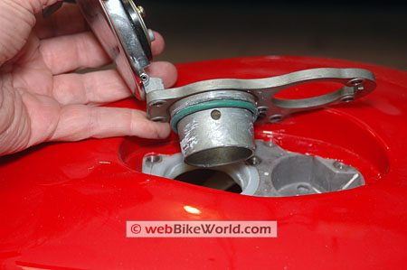 Ducati GT1000 fuel filler cap and assembly