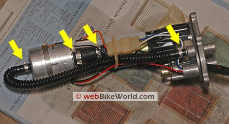 Ducati GT1000 fuel filter assembly